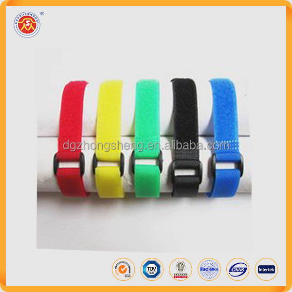 100% nylon adjustable hook loop buckle strap,magic tape