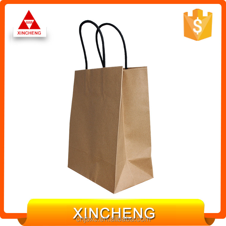 Custom Recyclable Luxury Style Printed Gift Shopping Paper Bag with Logo Design