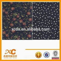 Woven Technics and Combed Yarn Type printed denim fabric