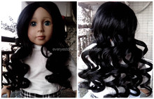 curly real black doll wigs factory