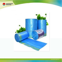 HDPE colorful Bin liner trash bags on roll/Plastic colored drawstring trash garbage bag