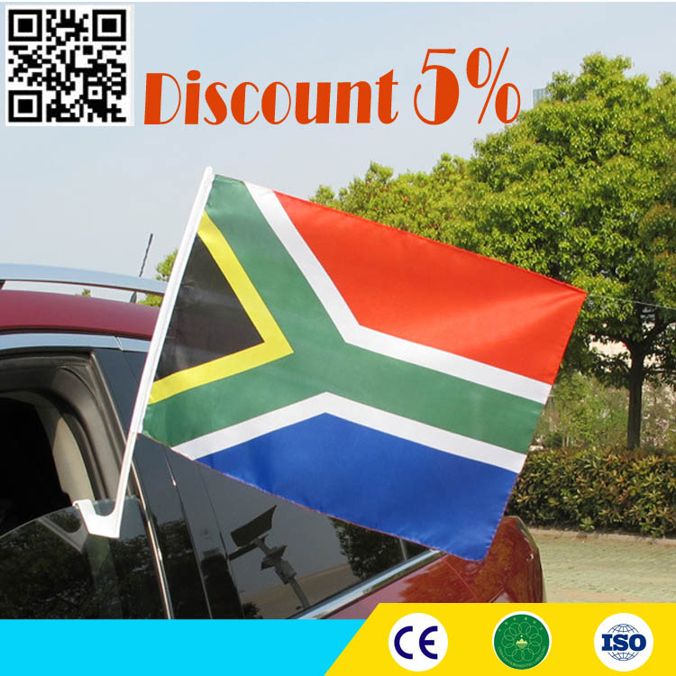 Sublimation printing 12*18 inches custom window clip car Flags for wholesale