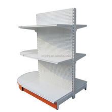 Supermarket store display good grocery double side reasonable price gondola shelving rack supplier