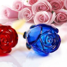 2015 new design colorful crystal rose flower wedding favor Valentine's gift