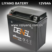 Motorcycle Part/12V 9A Dry Charged Maintenance Free Batteries For Loncin Lifan Zongshen Jianshe Kinlon (6MF9A-4)