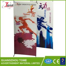 Retractable banner /pull up display stands banner display outdoor Korean style exhibition banner