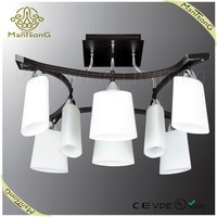 European Style Modern White Glass shade E14 Indian Ceiling Lights
