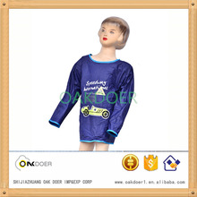 kid pvc raincoat/plastic raincoat, blue pullover pvc raincoat with cool sports car pattern printed on