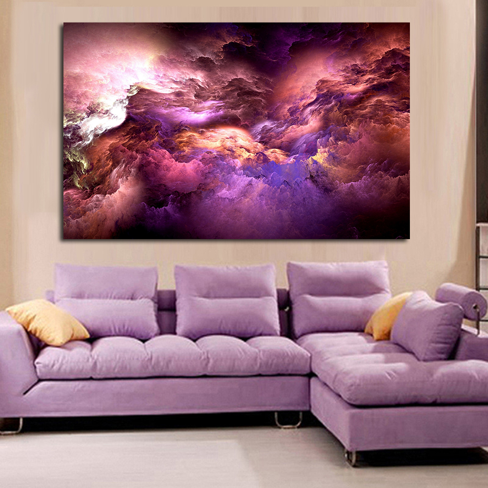 Clouds Colorful Graphics Canvas ART Home Decor Wall Art Painting Wall Painting Picture Modern No Frame