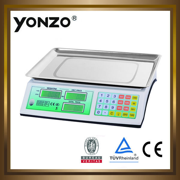 YZ-962 new model 30kg/40kg electronic fruit vegetable weighing scale