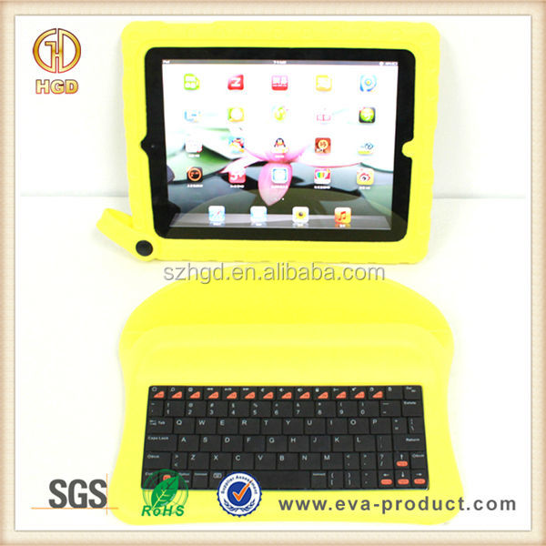 High quality eva foam shockproof Portable keyboard for ipad tablet case