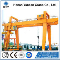 China Customized Heavy Duty Double Girder Travelling Gantry Crane For Sale