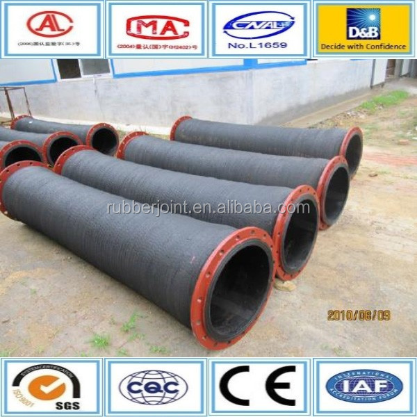 steel flange pipeline fast connection high temperature high pressure steam rubber dredging hose