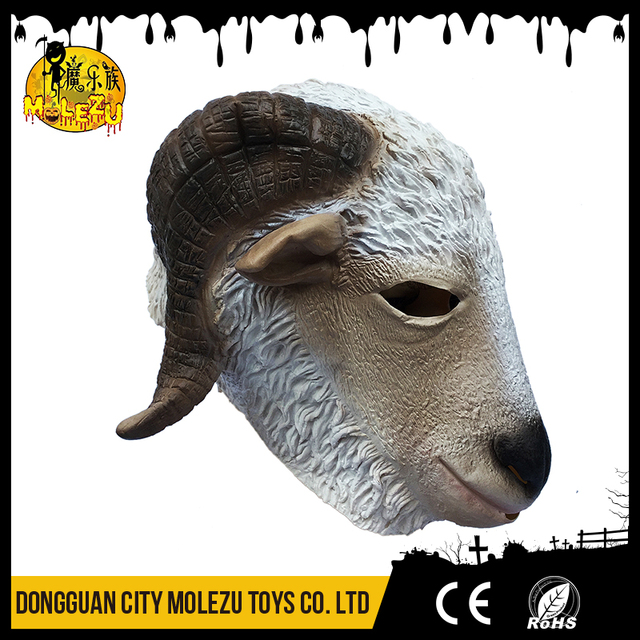 Funny cosplay full heads adult animal latex goat Masks for halloween party