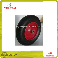 PU foam flat free pneumatic solid rubber wheel barrow tire inner tube
