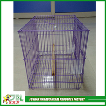 violet color pet cages iron wire bird cage