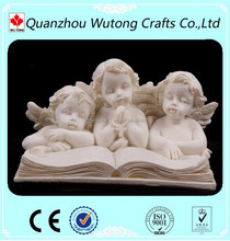 Wholesales polyresin Italy white angel cupid figurines