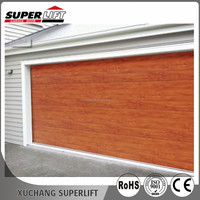 Automatic wooden grain weather strips garage roll-up door