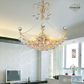 beautiful cheap traditional yellow crystal chandelier lighting for India ETL800025