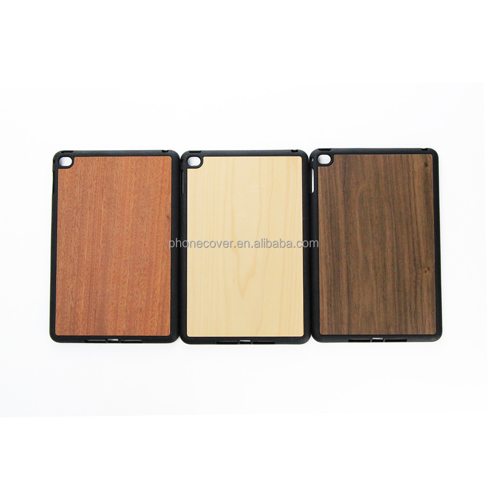 Mobile Phone Case Wooden Cover for iPad Handmade Walnut Rosewood Phone Accessories Covers for iPad
