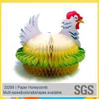 Hen Shape Paper Honeycomb centerpieces for Easter Decoration