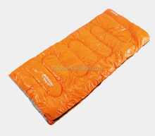 envelope three season waterproof polyester travel camping sleeping bag with carry bag