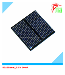 PET laminated/epoxy resin 5.5V solar panel