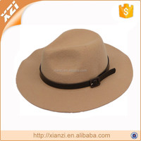 Fashion Women Wide Brim Woolen Vintage Felt Fedora Exquisite Hat