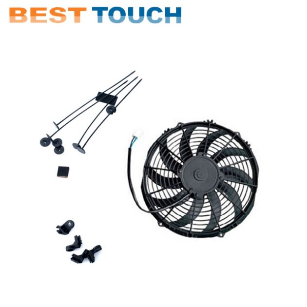 R9/<strong>11</strong> GT C-TYPE L4 TURBO 1.4L OHV ENGINE 83-87 AT aluminum radiator 7'' inch aftermarket cooling fan for RENAULT