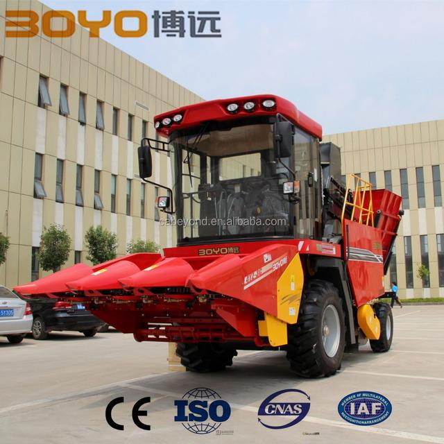 China agricultural machinery corn harvesting machine/mini corn combine harvester