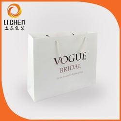 Brand custom design Oem production paper shopping bag