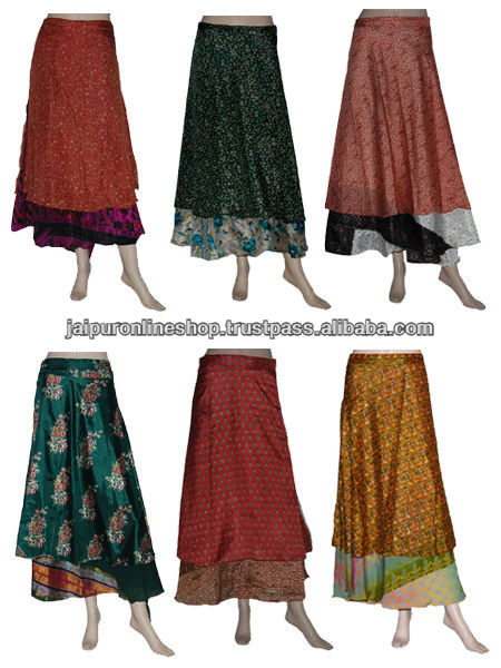 Sari Silk Real African Wrap Skirt clothing