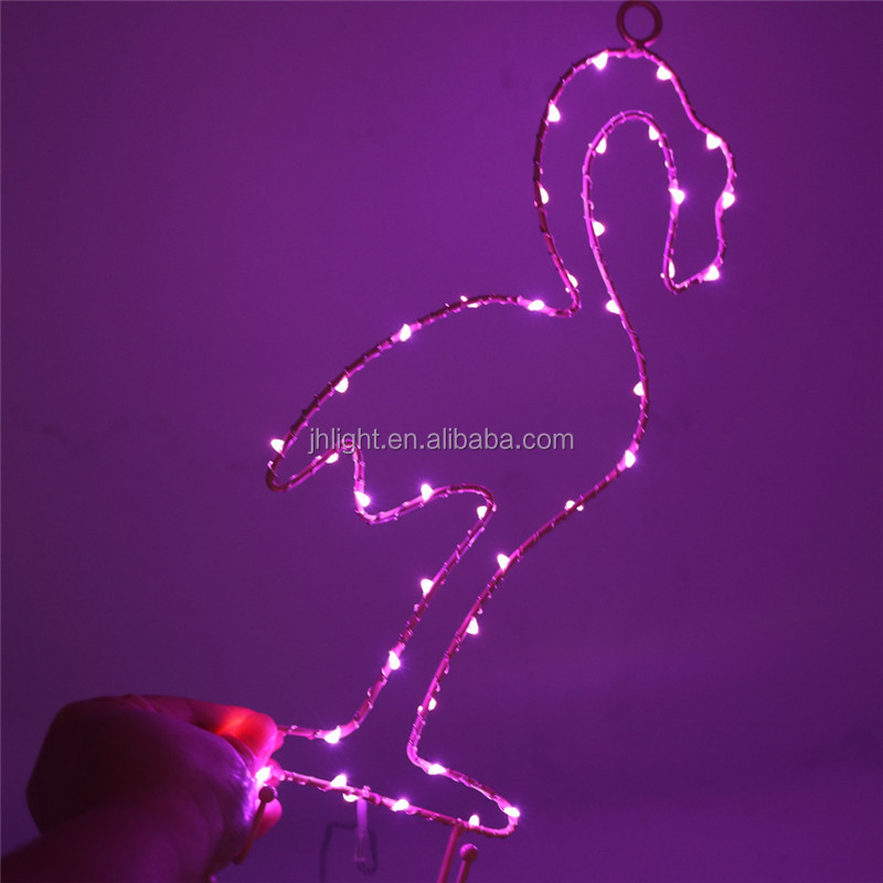 2017 best selling beautiful Christmas holiday LED light decoration flamingo light