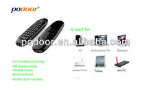 Podoor PC100 2.4GHz Air mouse with Keyboard for Android Mini PC Smart TV BOX support Somatic Games