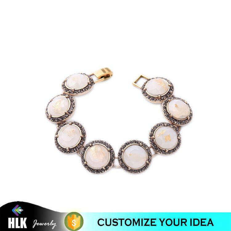 Artificial Gemstone Jewelry Bracelets and Bangles in Pakistan Gold Pattern Moonstone