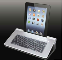 Wireless bluetooth Keyboard speaker for ipad/tablet works as a laptop