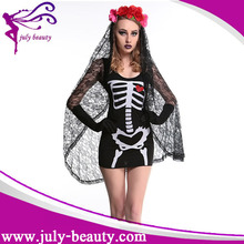 Sexy Black Lace Witch Bride Dress Halloween Costumes For Woman brazil carnival costumes