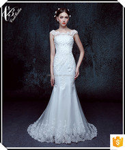 Elegant Chic Wedding Bridal Dress Vestido De Noiva White Mermaid Wedding Dresses 2015 XL016