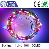 Wholesale holiday decoration bling led copper string light 10m 100leds IP68 Made in China