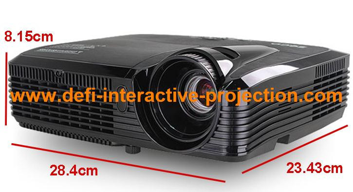 5000 lumens uldata show ultra short throw projector