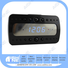 Portable s py clock camera with motion activation/ H.264 5 Mega Pixels Digital Alarm Clock Night Vision Hidden IP Nanny Spycam