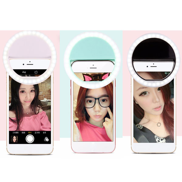 Wholesale popular fashion 36 LED selfie ring flash light for mobile phone