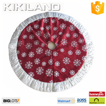 52 inch most popular wine red christmas tree skirt ornament