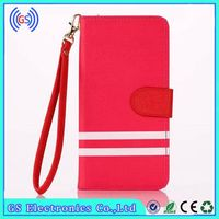 Card Holder Case For Samsung Galaxy S2 Magnetic PU Leather Dual Color Wristlet Wallet Case For Samsung Galaxy S2