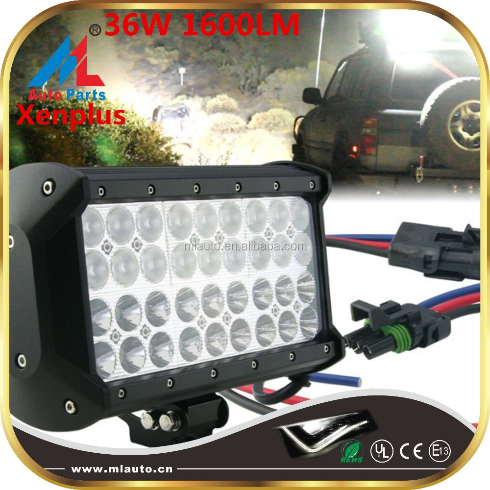 High power 36W led light bar waterproof ip67 1600lm vehicle pick up lighting bar