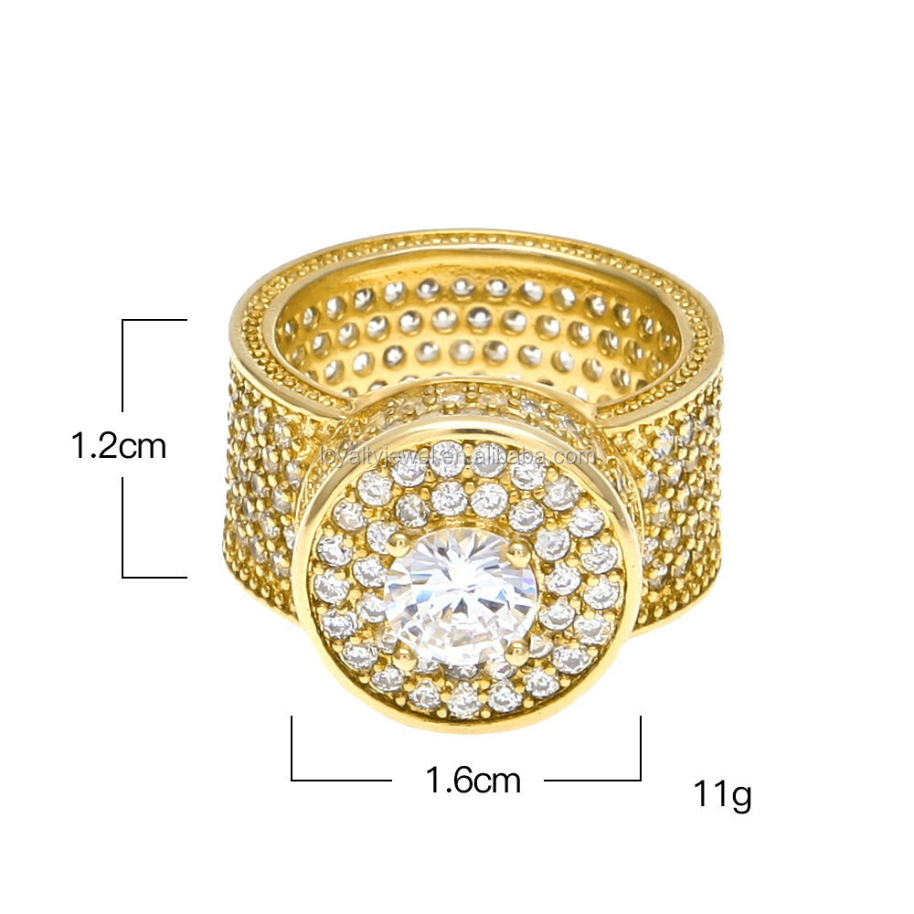 LOYALTY jewelry New men jewelry hip hop ring pave diamond jewelry