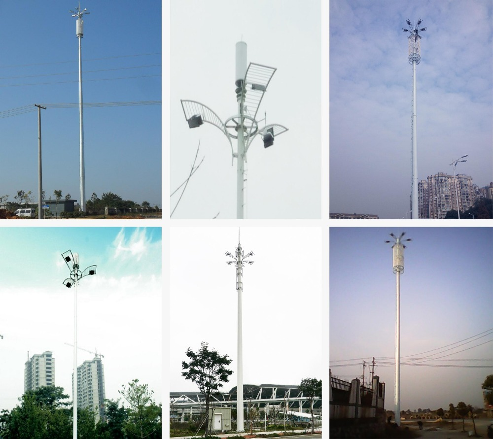 Heavy duty telescoping telecommunication antenna tower mast in shelter and mobile shelter antenna tower