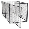 Popular wrought iron high quality new design large outdoor beautiful dog cages/kennels/pet houses