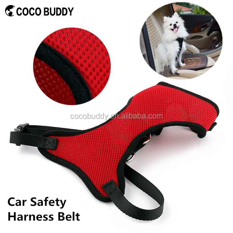Pet products Car Safety Seat Mesh Soft Dog Harness Belt 8 colors 5 sizes