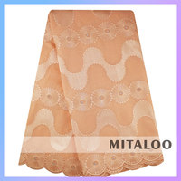 Mitaloo MSL03002 African New Lace Design UK Swiss Lace Cotton Voile Lace